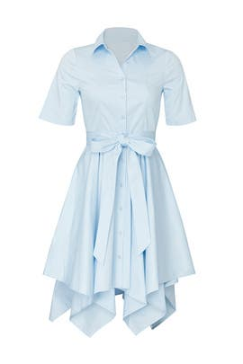 Sky Blue Shirt Dress by Badgley Mischka