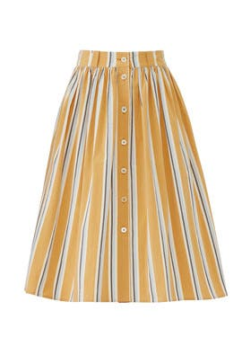 Olivio Striped Skirt by Brock Collection