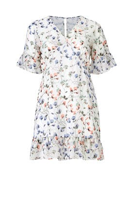 Floral Ruffle Hem Dress by JUNAROSE