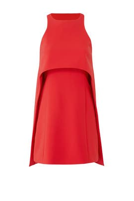 Red Layer Halter Dress by KAUFMANFRANCO