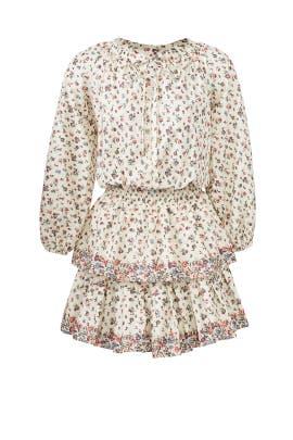 Cream Popover Dress by LoveShackFancy