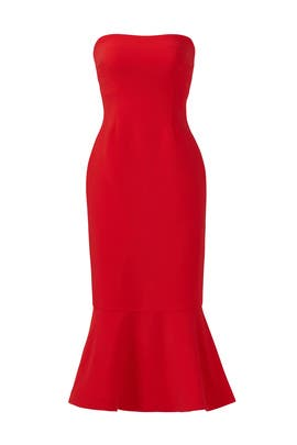 c1c6fd7342c3 Red Luna Dress by Cinq à Sept for $75 - $85 | Rent the Runway