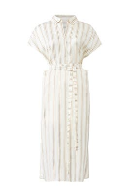 Ivory Striped Shirtdress by Co
