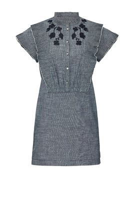 Chambray Short Prairie Dress by Coach