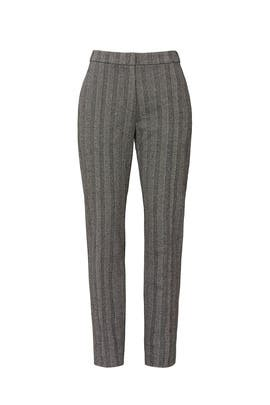 Grey Striped Trousers by Derek Lam Collective