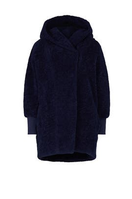 Coco Faux Sherpa Maternity Coat by HATCH