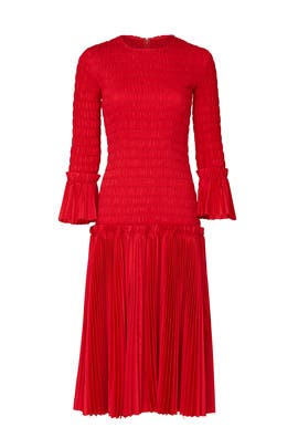 Pleated Mariella Dress by Khaite
