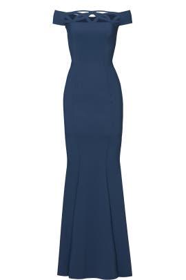 Blue Artico Tessie Gown by La Petite Robe di Chiara Boni