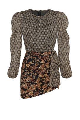 Amber Paisley Print Dress by MISA Los Angeles