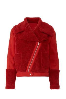 Alissa Faux Sherpa Jacket by MINKPINK