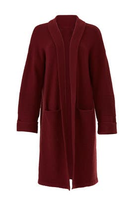 Red Shawl Sweater Coat by Michael Stars