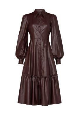 Faux Leather Larisa Dress by Nicholas