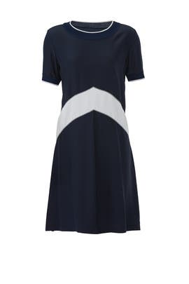 Hannah Chevron Silk Dress by rag & bone