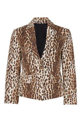 Leopard Printed Shrunken Blazer by RACHEL ROY COLLECTION