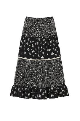 Black Floral Skirt by Sweet Baby Jamie