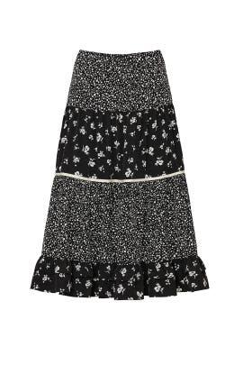 Black Floral Skirt by Sweet Baby Jamie