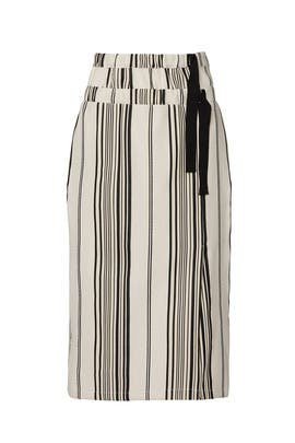 Striped Nola Skirt by Zero + Maria Cornejo