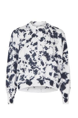 Cut Out Fleece Sweatshirt by bassike