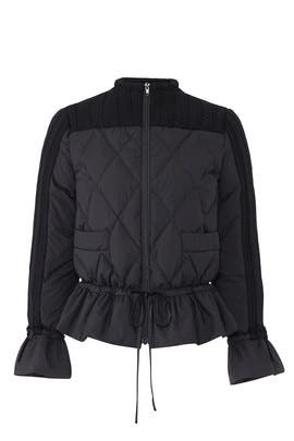 Black Down Jacket by MARYLING