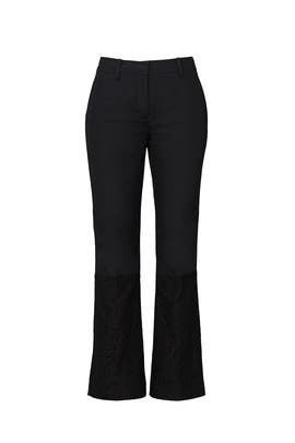 Cropped Lace Panel Pants by No. 21