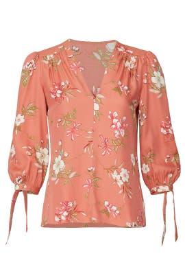 Lita Floral Top by Rebecca Taylor