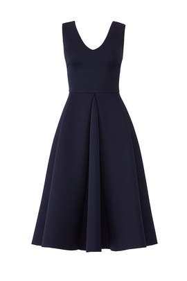 Navy Midi Flare Dress By Slate Willow