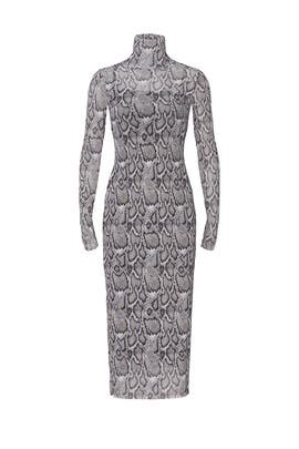 Shailene Snake Mesh Dress by AFRM