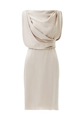 Taupe Grecian Draped Dress by Jason Wu Collection