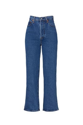 Ribcage Straight Ankle Georgie Jeans by Levi's