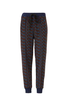 Port Red Printed Joggers by Marni