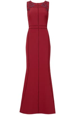 Burgundy Vine Gown by Marchesa Notte