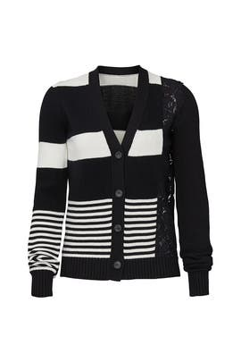 Striped Lace Cardigan by No. 21