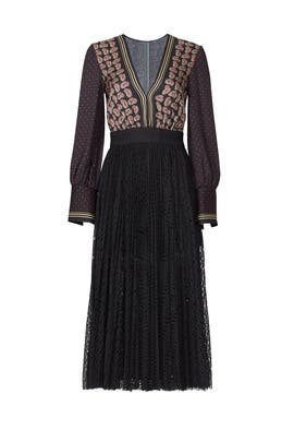 Paisley Print Pleat Dress by Philosophy di Lorenzo Serafini