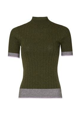 Contrast Trim Sweater by Tome