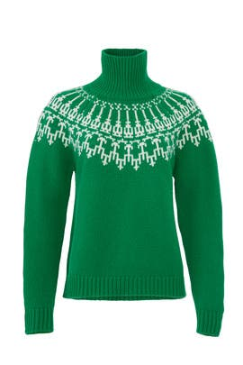 Fair Isle Turtleneck Sweater by Tory Sport