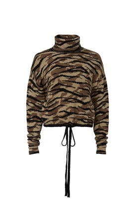 Zebra Camo Val Sweater by AFRM