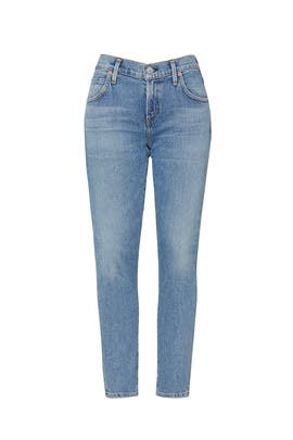 Indigo Elsa Mid Rise Slim Fit Crop Jeans by Citizens Of Humanity