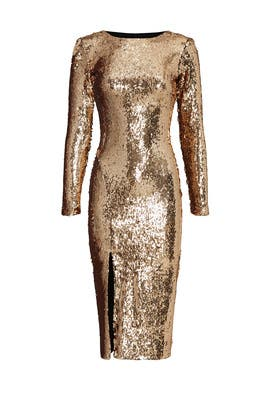 Gold Sequin Natalie Sheath by Dress The Population