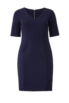 Navy 9 to 5 Stretch Work Dress by ELOQUII