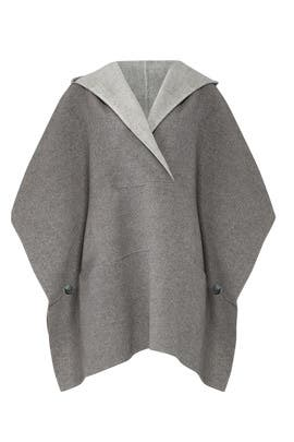 Double Faced Poncho by Halston Heritage