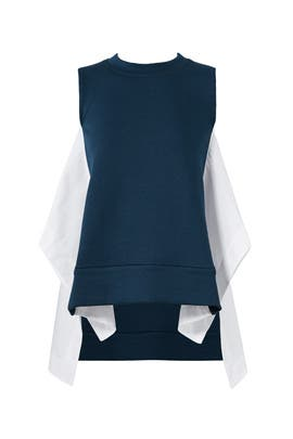 Marine Blue Combo Top by Marni
