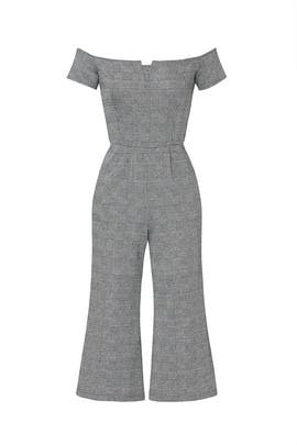 Plaid Off The Shoulder Jumpsuit by Slate & Willow
