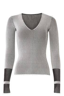 Optic Stripe Pullover by Theory