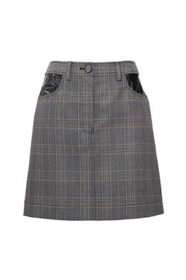 Grey Plaid Mini Skirt by Derek Lam 10 Crosby