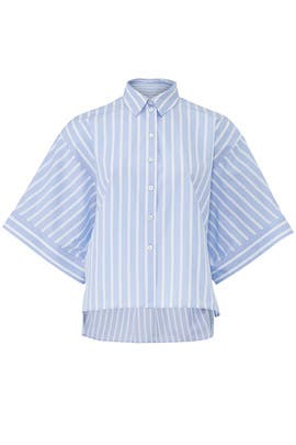 Striped Woven Shirt by Jil Sander Navy
