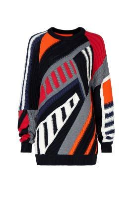Patchwork Oversized Sweater by Koché