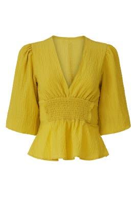Yellow Smocked Blouse by Louna