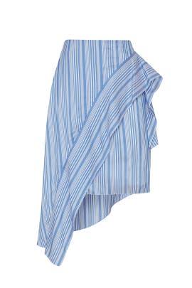 Striped Asymmetrical Skirt by Nina Ricci