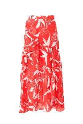 Parrot Tulip Sia Maxi Skirt by Tanya Taylor