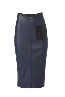 Violette Leather Pencil Skirt by VEDA